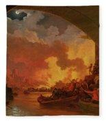The Great Fire Of London Fleece Blanket