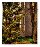 The Green Bench Fleece Blanket