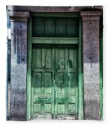 The Green Door In The French Quarter Fleece Blanket