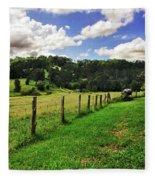 The Green Green Grass Of Home Fleece Blanket
