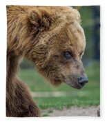 The Grizzly In Spring Fleece Blanket