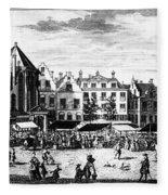 The Hague: Market, 1727 Fleece Blanket