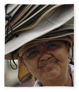 The Hat Lady Costa Rica Fleece Blanket