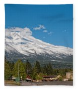 The Heart Of Mount Shasta Fleece Blanket