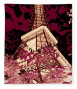 The Heart Of Paris - Digital Painting Fleece Blanket