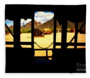 The Hills In Old Tuscon Az Fleece Blanket