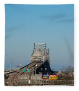 The Horace Wilkinson Bridge Over The Mississippi River In Baton Rouge La Fleece Blanket
