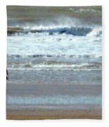 The Horse And The Sea Fleece Blanket