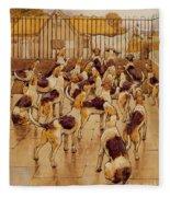 The Hounds Began Suddenly To Howl In Chorus  Fleece Blanket
