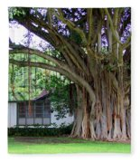 The House Beside The Banyan Tree Fleece Blanket