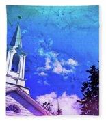 The House Of Men Under The House Of God Fleece Blanket