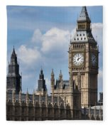 The Houses Of Parliament Fleece Blanket