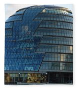 The Imposing Glass Greater London Mayoral Building On The Banks Of The Thames Fleece Blanket