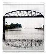 The International Peace Bridge Between The United States  And Canada Fleece Blanket