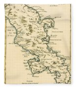 The Island Of Martinique Fleece Blanket