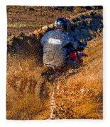 The Joy Of Mud Fleece Blanket