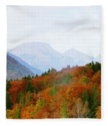 The Julian Alps In Autumn At Lake Bohinj Fleece Blanket
