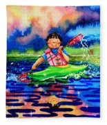The Kayak Racer 11 Fleece Blanket