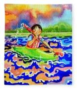 The Kayak Racer 12 Fleece Blanket