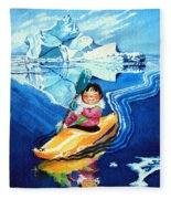 The Kayak Racer 13 Fleece Blanket