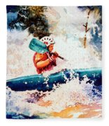 The Kayak Racer 18 Fleece Blanket