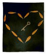 The Key To My Heart Fleece Blanket
