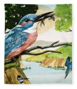The Kingfisher Fleece Blanket