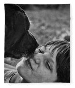 The Kiss Fleece Blanket