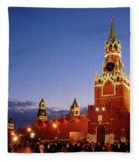 The Kremlin In Moscow Fleece Blanket