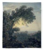 The Lake Of Albano And Castle Gandolfo  Fleece Blanket