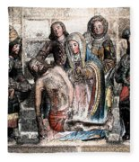 The Lamentation Of Christ Fleece Blanket