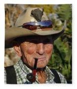 The Last Cowboy Of The West Fleece Blanket