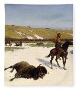 The Last Of The Herd Fleece Blanket