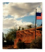 The Last Outpost Old Tuscon Arizona Fleece Blanket