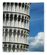 The Leaning Tower Of Pisa Italy Fleece Blanket