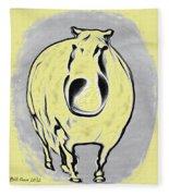 The Legend Of Fat Horse Fleece Blanket