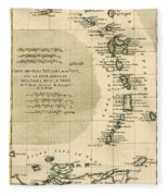 The Lesser Antilles Or The Windward Islands Fleece Blanket