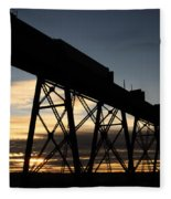 The Lethbridge Bridge Fleece Blanket