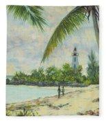 The Lighthouse - Zanzibar Fleece Blanket