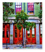 The Locked Bicycle - New Orleans Fleece Blanket