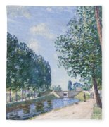 The Loing Canal At Moiret Fleece Blanket