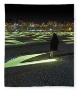 The Lonely Tourist At Pentagon Memorial Fleece Blanket