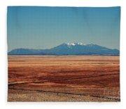 The Long Road To The Meteor Crater In Az Fleece Blanket