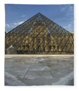 The Louvre Pyramid Paris Fleece Blanket