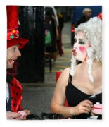 The Mad Hatter And The Red Queen Fleece Blanket