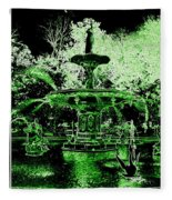 Green Savannah Fleece Blanket