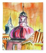 The Magical Roofs Of Prague 01 Bis Fleece Blanket