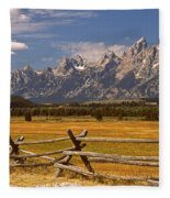 The Majestic Tetons Fleece Blanket