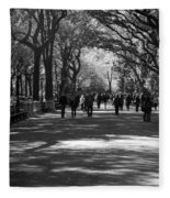The Mall At Central Park Fleece Blanket