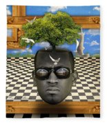 The Man And The Tree  Fleece Blanket